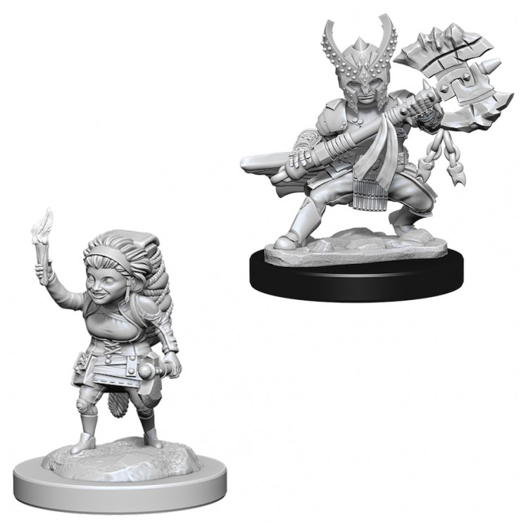 Dungeons and Dragons Nolzurs Marvelous Unpainted Minis: Female Halfling Fighter W6