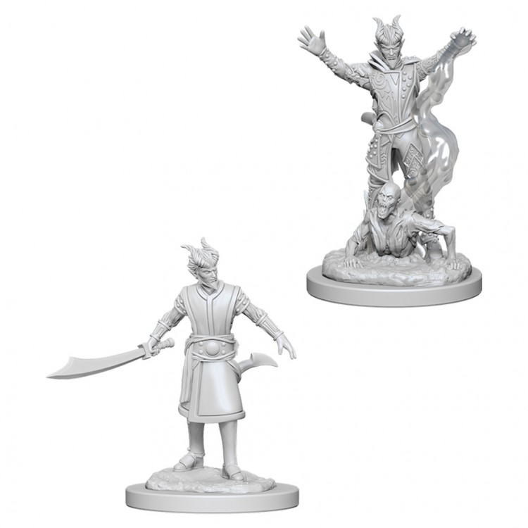 Dungeons and Dragons Nolzurs Marvelous Unpainted Minis: Male Tiefling Warlock W6