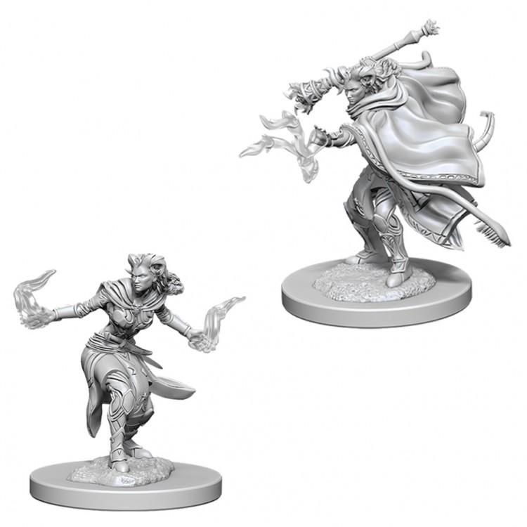 Dungeons and Dragons Nolzurs Marvelous Unpainted Minis: Female Tiefling Warlock W6