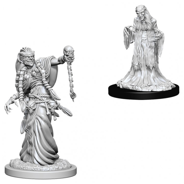 Dungeons and Dragons Nolzurs Marvelous Unpainted Minis: Green Hag and Night Hag W6