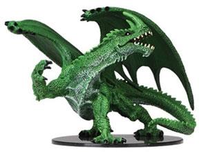 Pathfinder Deep Cuts Unpainted Minis: Gargantuan Green Dragon