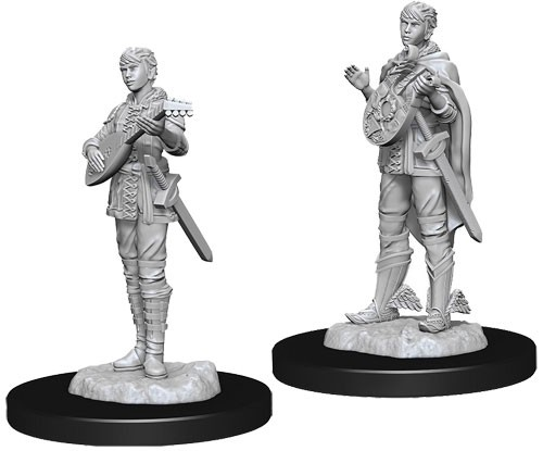 Dungeons and Dragons Nolzurs Marvelous Unpainted Minis: Female Half-Elf Bard