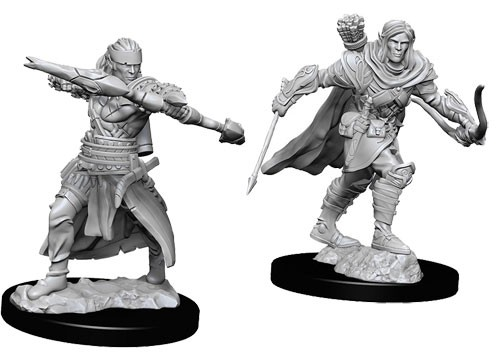 Pathfinder Deep Cuts Unpainted Minis: Male Half-Elf Ranger