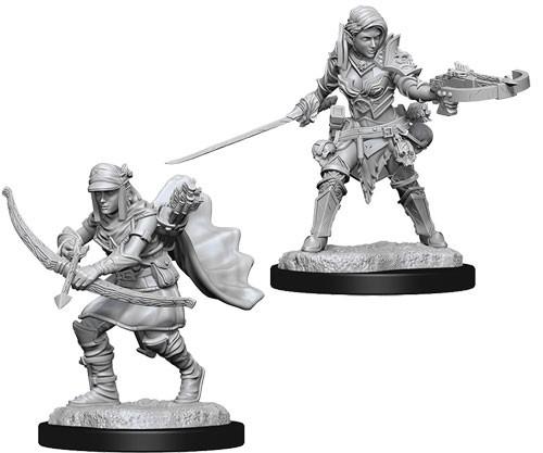 Pathfinder Deep Cuts Unpainted Minis: Female Half-Elf Ranger