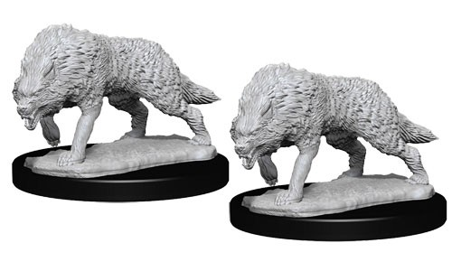 Pathfinder Deep Cuts Unpainted Minis: Timber Wolves