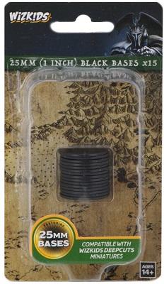 Deep Cuts Unpainted Miniatures: 25mm Round Base (15) Black