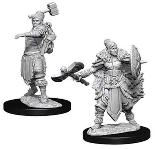Dungeons and Dragons Nolzurs Marvelous Unpainted Minis: Female Half Orc Barbarian