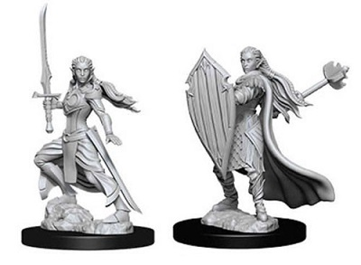 Dungeons and Dragons Nolzurs Marvelous Unpainted Minis: Female Elf Paladin w9