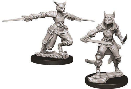 Dungeons and Dragons Nolzurs Marvelous Unpainted Minis: Female Tabaxi Rogue W9