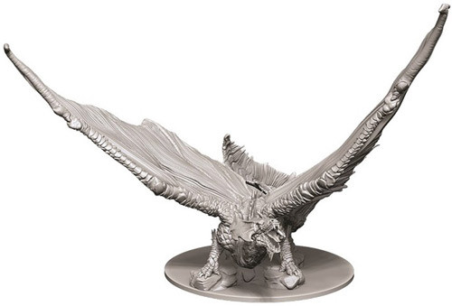Dungeons and Dragons Nolzurs Marvelous Unpainted Minis: Young Brass Dragon W9