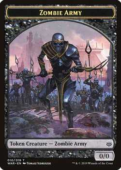 Zombie Army Token - Black - 0/0
