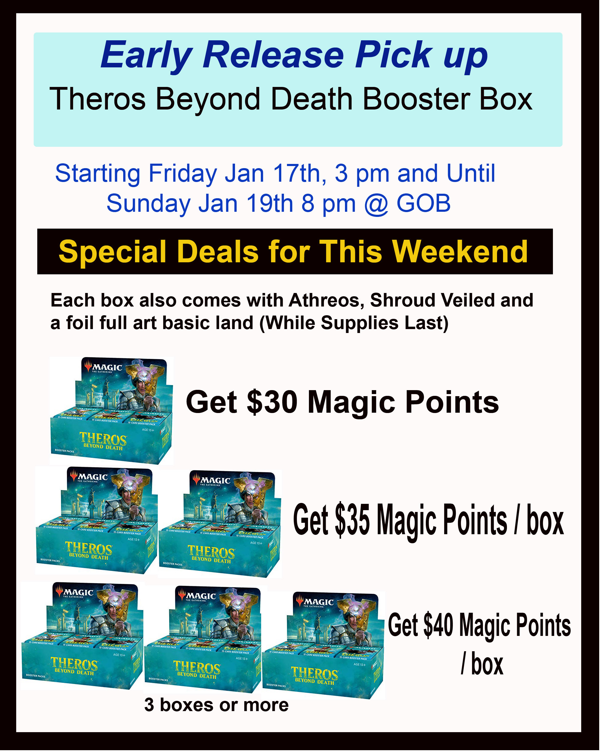 Magic the Gathering: Theros Beyond Death Booster Box Early Release